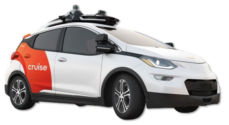 The Cruise AV autonomous vehicle, based on the Chevy Bolt