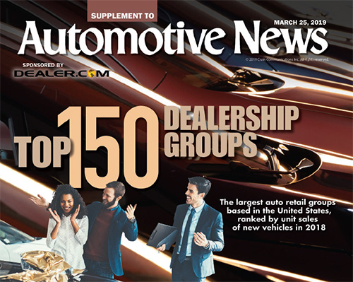 Check out the top 150 U.S. dealership groups