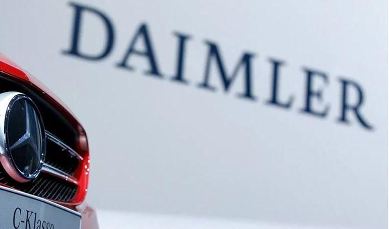 Daimler sign and Mercedes-Benz logo