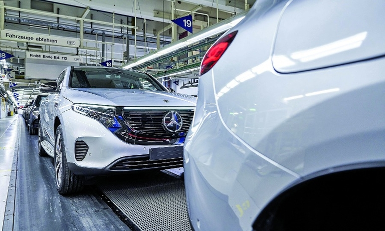 Production troubles have marred Mercedes-Benz's EQC electric crossover, seen in January at the Daimler factory in Bremen, Germany. Only 623 were registered in Germany since last spring.