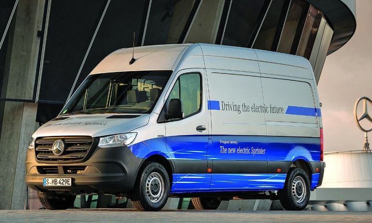 The eSprinter delivery van has been on sale in Europe for about six months.