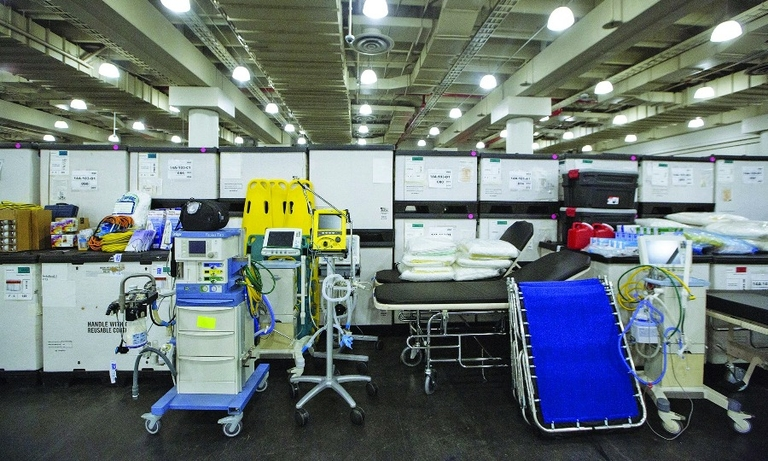 The Javits Center is being transformed into a 1,000-bed hospital as New York City's health care infrastructure has been overrun by COVID-19.