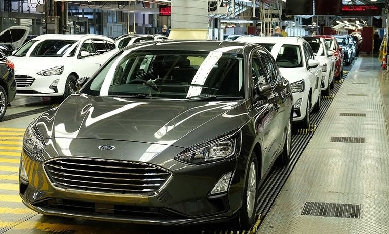 Ford Focus production at its Saarlouis, Germany, factory