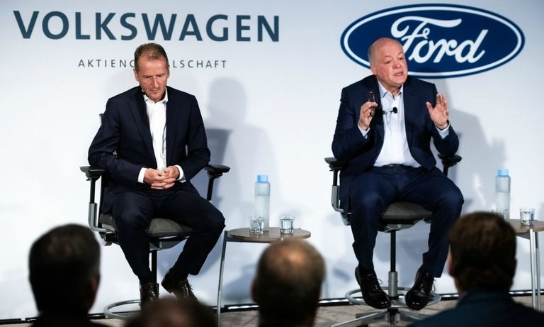 VW CEO Herbert Diess and Ford CEO Jim Hackett