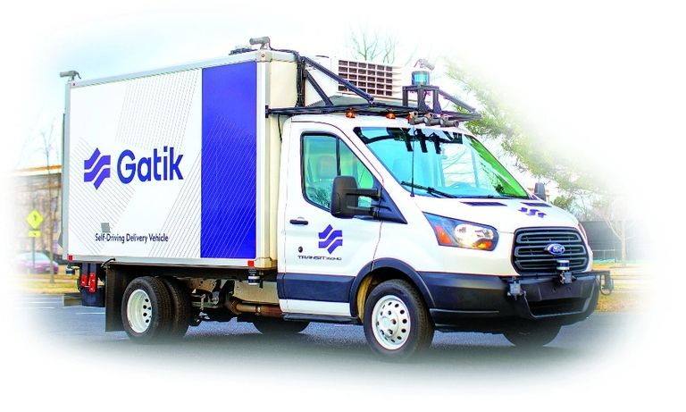 Gatik vehicles travel 10-mile fixed delivery routes. The company co-founders saw a need to connect warehouses and microfulfillment centers with retail stores and distribution centers.