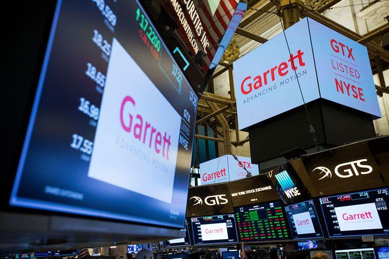Garrett Motion signs at the New York Stock Exchange