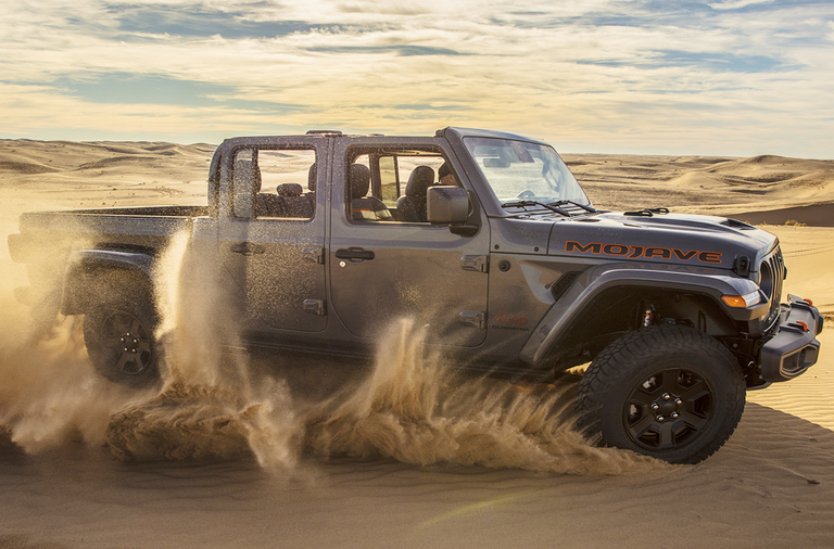 Jeep Gladiator Mojave trim gets new Desert Rated badge
