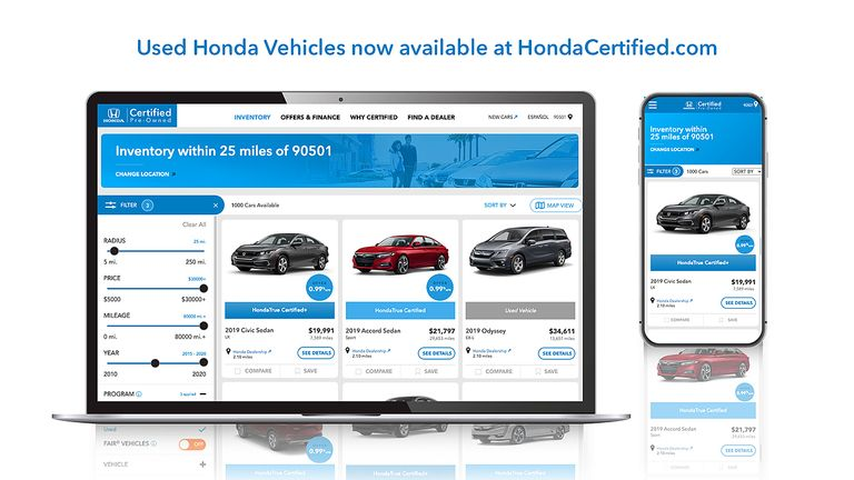 Honda adds non-CPO used cars to U.S. sales website