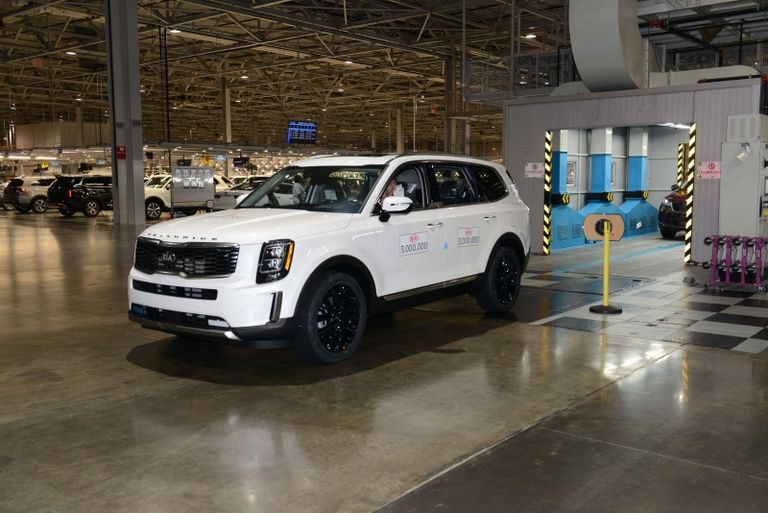 A Kia Telluride was vehicle number 3,000,000 made at the decade-old Georgia assembly plant last fall.