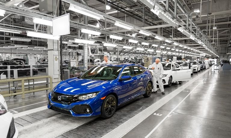 Honda's Civic production line in Swindon, England