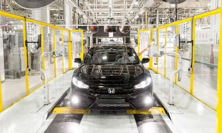 A Honda Civic on the production line in Swindon, England