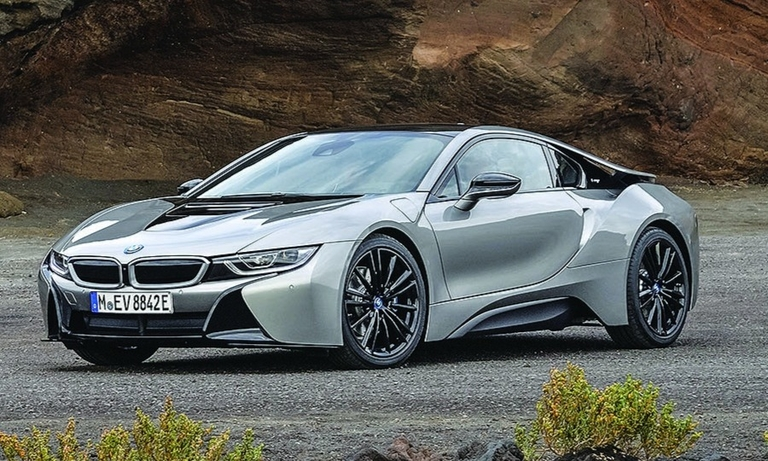 The i8 was BMW's first plug-in hybrid vehicle.
