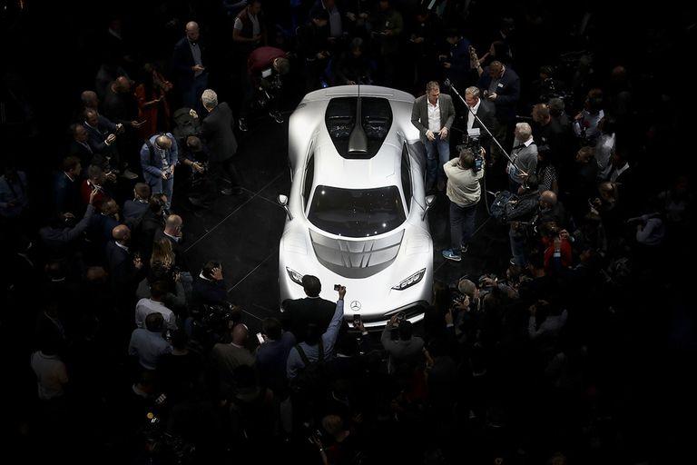 A Mercedes-Benz AMG Project One hypercar.