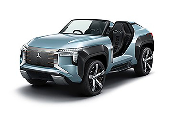 Mitsubishi's funky buggy concept can run on several fuels
