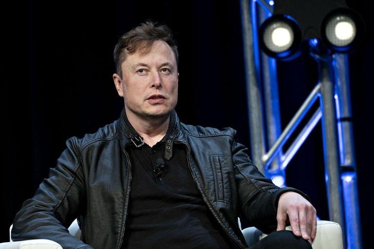 Tesla's Elon Musk being interviewed