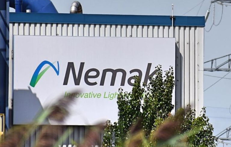 Nemak sign outside of a plant