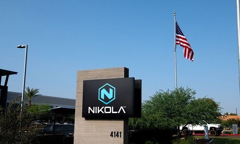 Sign outside Nikola headquarters