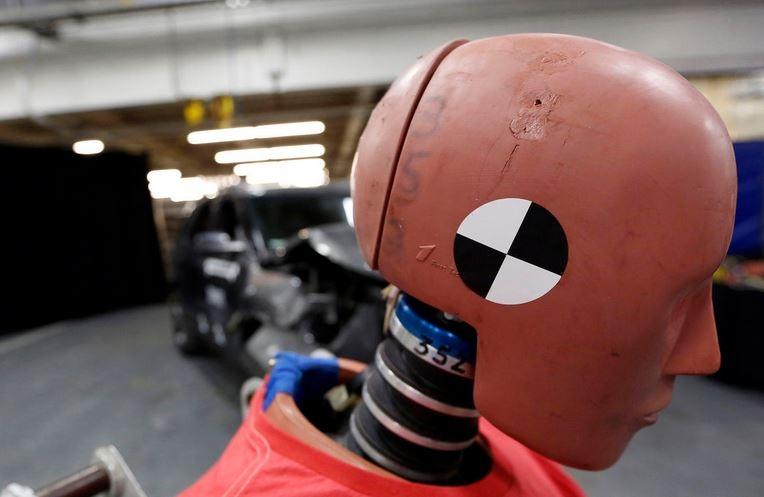 Crash test dummies get in back seat to make Uber riders safer