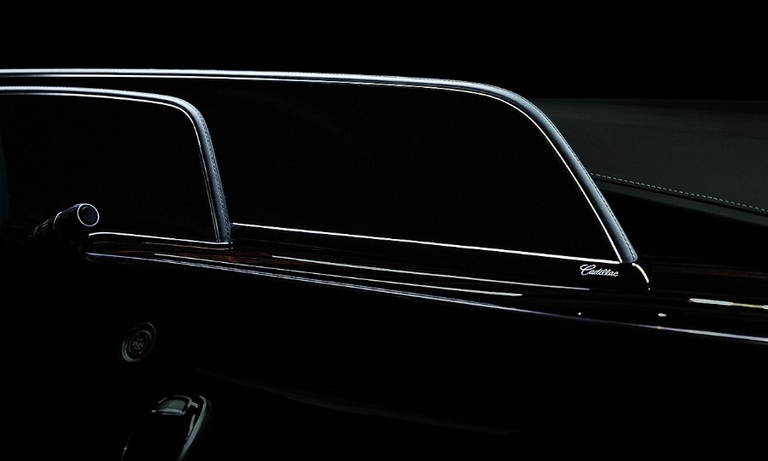 The 2021 Escalade's OLED screen, shown in this teaser photo, will be the largest on the road.