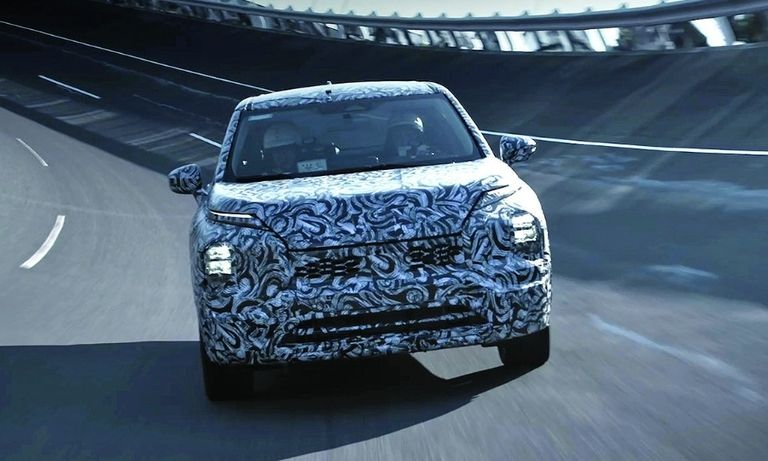 The redesigned 2022 Mitsubishi Outlander will be unveiled this week.