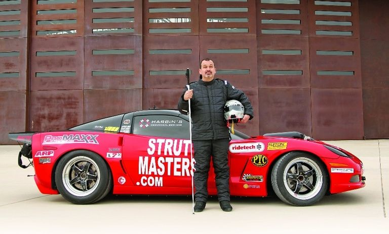 Dan Parker will pilot his Chevrolet Corvette with a custom guidance system that provides audible feedback.