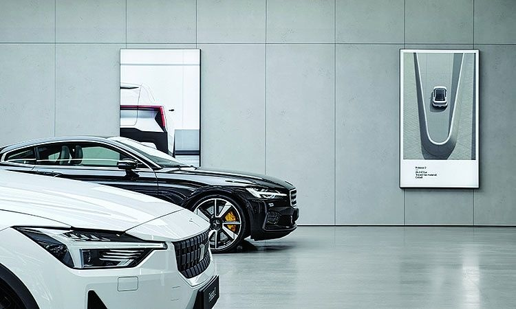 At retail spaces, Polestar will disclose the carbon footprint and traced risk materials for its EVs.