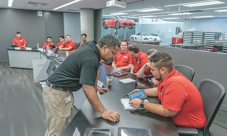 Porsche techs in a class of their own