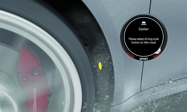 The system alerts drivers to potential hydroplaning without compromising performance.