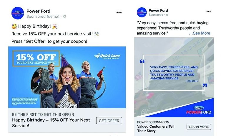 In May, more than half of vehicle buyers either saw or clicked on a Facebook ad from the store.