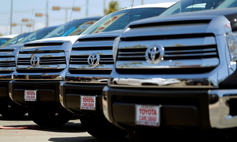 Toyota gets another boost from light trucks