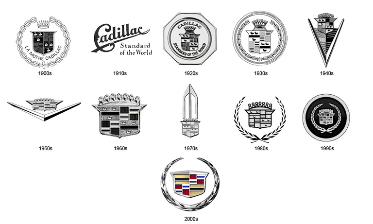 Cadillac, in 1905, files to trademark famed crest