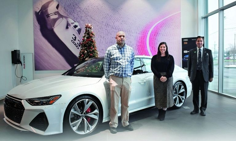 Garber Rochester team members, from left: Acura store Service Manager Dave Hudson; Carly Whelehan, assistant office manager; and Managing Partner Kevin Parker