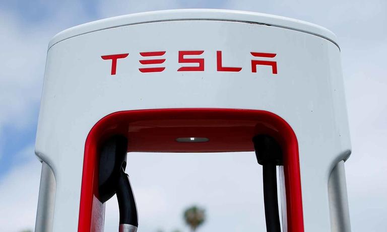 Tesla charging station
