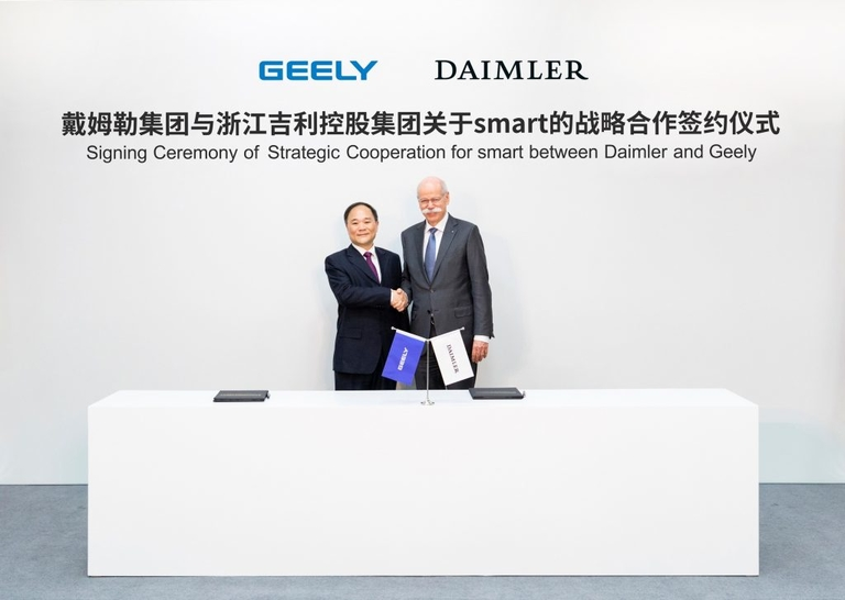 Daimler to recast Smart with Geely as China-based EV brand