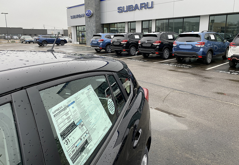 SUBARU: Biggest monthly decline in 3 decades