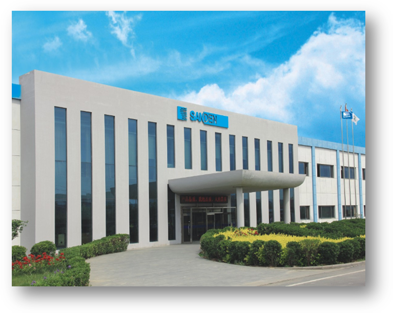 Sanden's plant in the north China port city of Tianjin