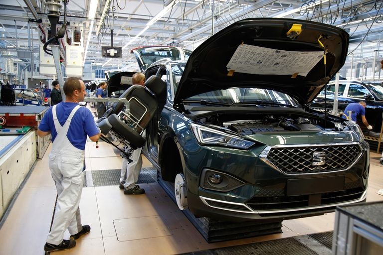 Production of the Seat Terraco at VW's plant in Wolfsburg