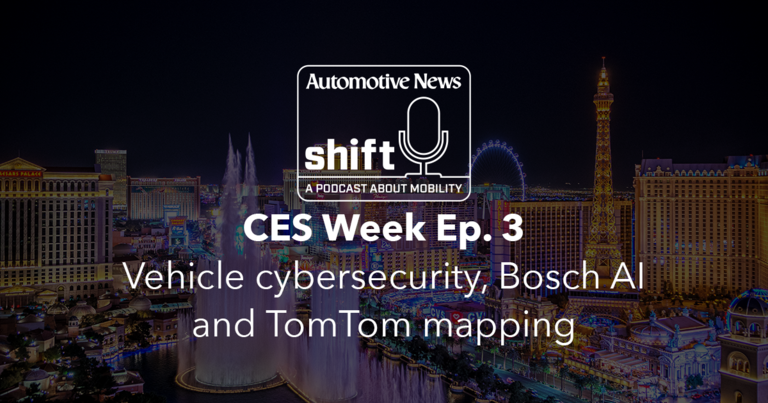 CES Week Ep. 3 | Vehicle cybersecurity, Bosch AI and TomTom mapping