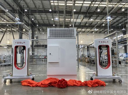 Tesla begins output of battery chargers at new Shanghai plant