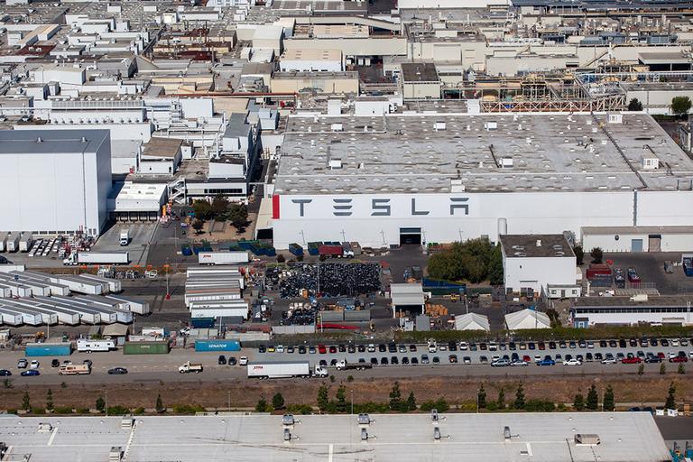 Tesla's assembly plant in Fremont, Calif.