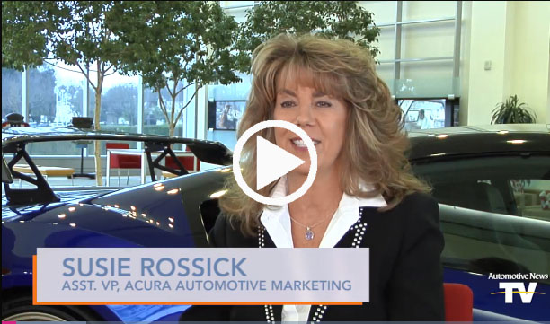 Acura's Rossick to women: 'Don't be afraid to try anything'