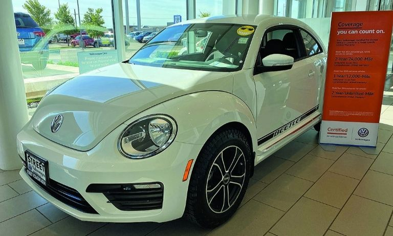 Street Volkswagen of Amarillo in Texas offers a certified pre-owned Beetle.