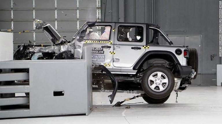 Jeep Wrangler tips over in 2 crash tests by auto safety group