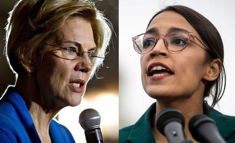 Sen. Elizabeth Warren and Rep. Alexandria Ocasio-Cortez