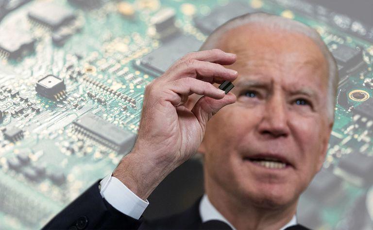 President Biden and microchips