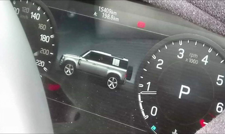 Did Land Rover's new Defender break in image of instrument cluster?