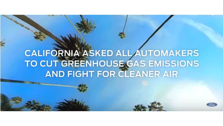 Ford ad calls out Chevy, Jeep, Toyota over California emissions