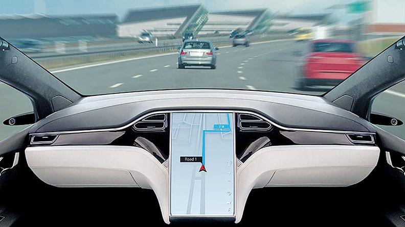 driverless-vehicle interior