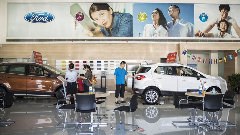 China generated sales of 10.88 million vehicles between January and May, up 36 percent from the same period a year earlier.