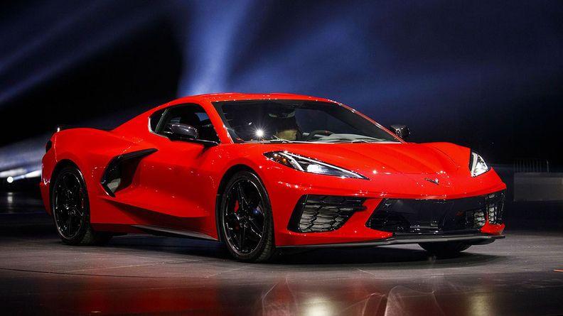 Chevrolet midengine Corvette in red
